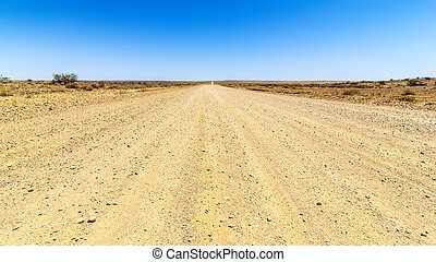 desert road - An image of a desert road to the horizon