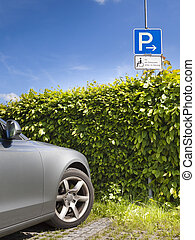disabled parking - An image of a disabled parking area sign...