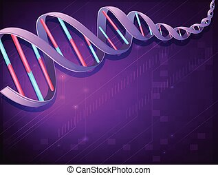 An image of a DNA - Illustration of an image of a DNA