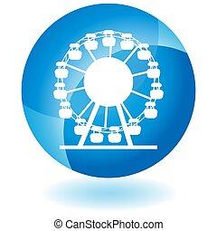 Ferris Wheel Button - An image of a Ferris Wheel Button...