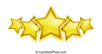 An image of a five star rating service