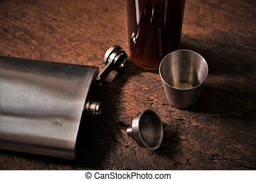 An image of a flask - blurry background