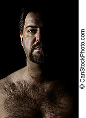 hairy man - An image of a hairy man in a dark style