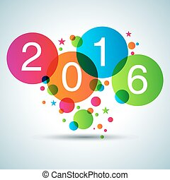 An image of a Happy New Year 2016 icon.