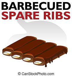 Hot Barbecued Sauced Spare Ribs