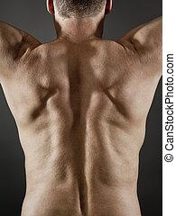middle age man back side
