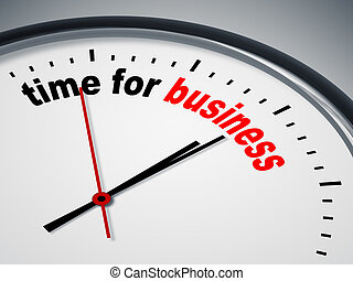 time for business - An image of a nice clock with time for ...
