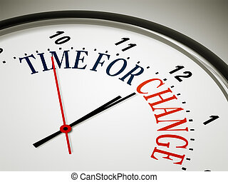 time for change - An image of a nice clock with time for ...