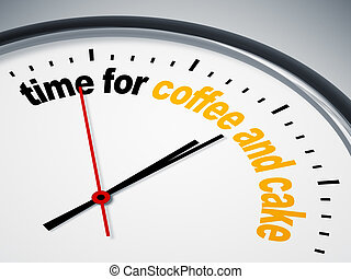time for coffee and cake - An image of a nice clock with ...