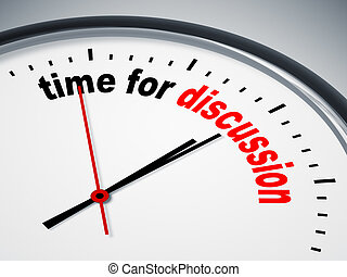 An image of a nice clock with time for discussion