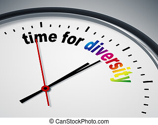 time for diversity - An image of a nice clock with time for ...