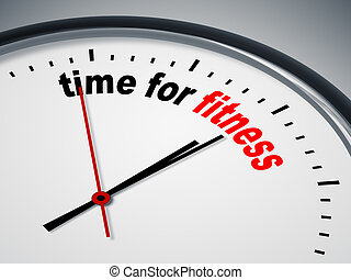 time for fitness - An image of a nice clock with time for...