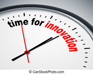 time for innovation - An image of a nice clock with time for...