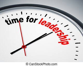 time for leadership - An image of a nice clock with time for...