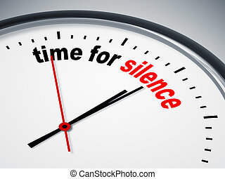 An image of a nice clock with time for silence