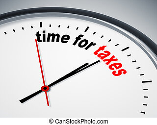time for taxes - An image of a nice clock with time for...