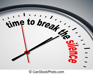 time to break the silence - An image of a nice clock with...