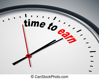 time to earn - An image of a nice clock with time to earn