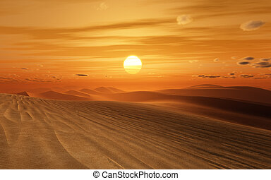 desert sunset - An image of a nice desert sunset