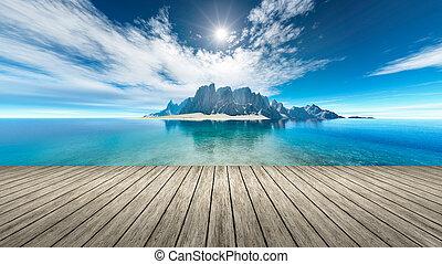 fantasy island - An image of a nice fantasy island