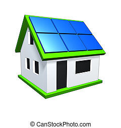 house - An image of a nice house with solar planels