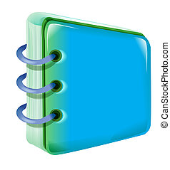 note pad - An image of a note pad with blue cover isolate on...