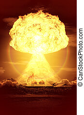 nuclear bomb - An image of a nuclear bomb explosion