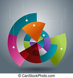 Overlapping Transparent Pie Chart Slices - An image of a...