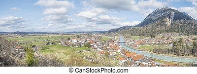 panoramic view to Eschenlohe