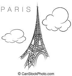 Paris Eiffel Tower Icon
