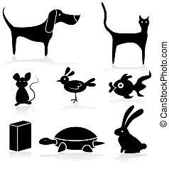 An image of a Pet Store Animals Icon Set.