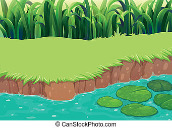 An image of a pond - Illustration of an image of a pond