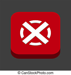 An image of a red cross X,Wrong mark icon, color red model 3D