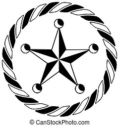 Sheriff Western Star Rope Circle Icon