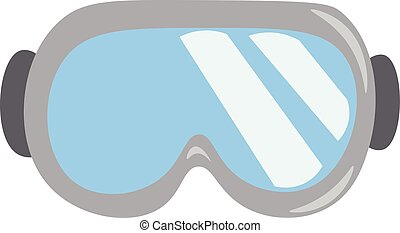 An image of a ski goggles vector or color illustration