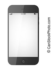 smart phone - An image of a smart phone isolated on white...