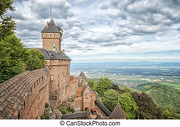 Haut-Koenigsbourg in France - An image of a the...