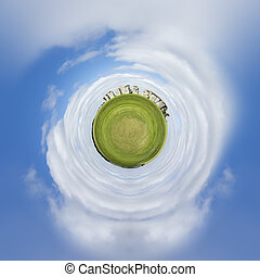 tiny planet Stonehenge