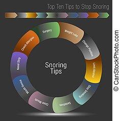Top Ten Tips to Stop Snoring