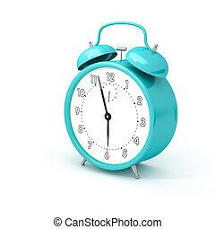 turquoise alarm clock