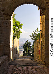 Pienza - An image of a Tuscany landscape in Italy. Pienza