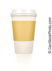coffee to go - An image of a typical coffee to go cup