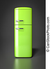 green refrigerator - An image of a typical green...