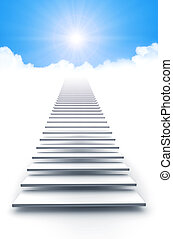 An image of a white stairway to heaven