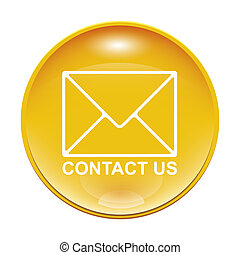 contact us - An image of a yellow contact us icon
