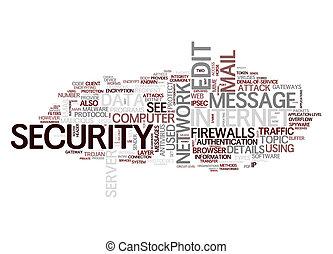 internet security text cloud - An image of an internet...