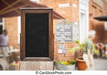 old blackboard - An image of an old blackboard in a ...