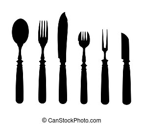 cutlery - An image of an old vintage cutlery