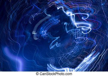 blue moving lights background