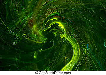 green moving lights background